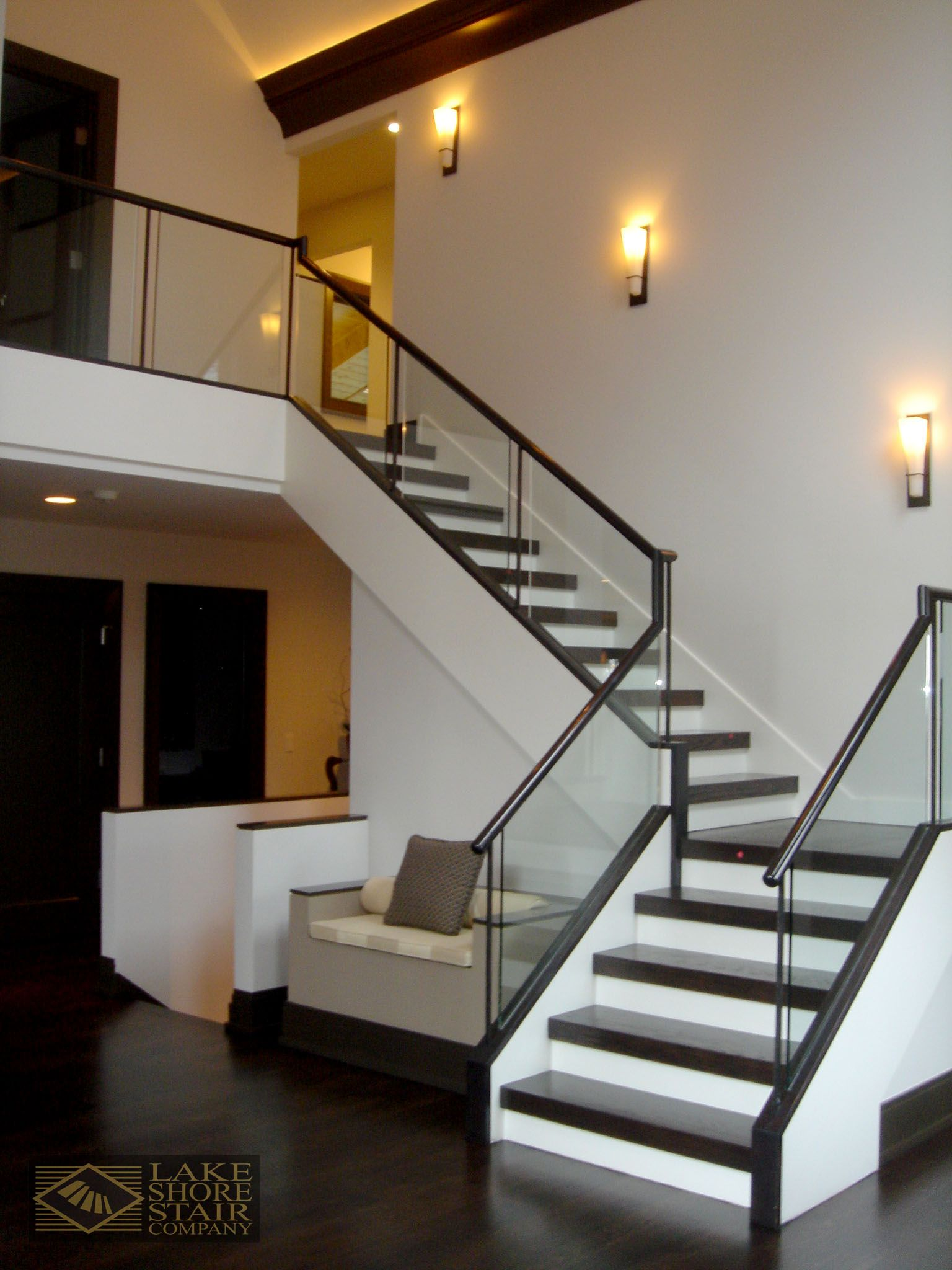 Modern Wood And Glass Staircase Stair Company Modern Stairs