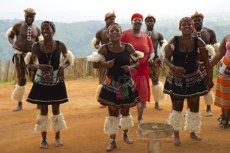 Zulu Tribal Dance In South Africa Traditional Zulu Tribal Dance