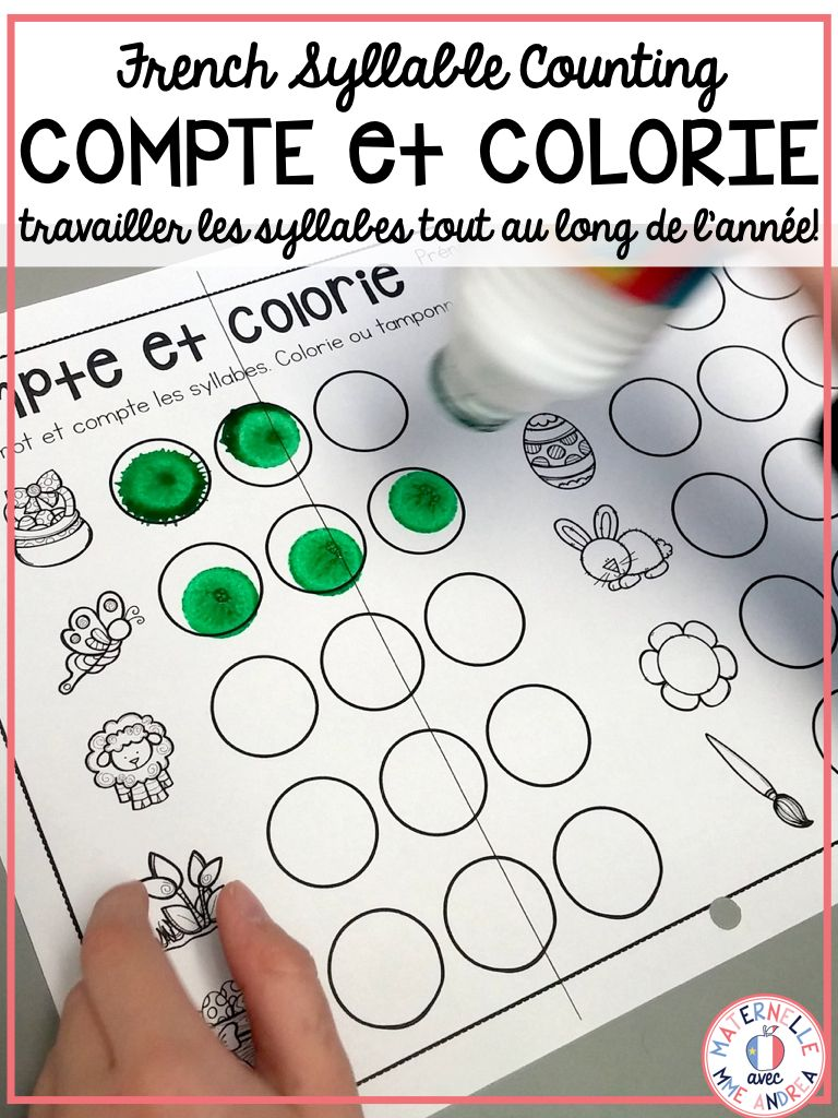 Use These Worksheets To Practice Counting Syllables In Words With Your French Primary Students They Are Cal Syllable Syllable Worksheet Syllables Kindergarten [ 1024 x 768 Pixel ]