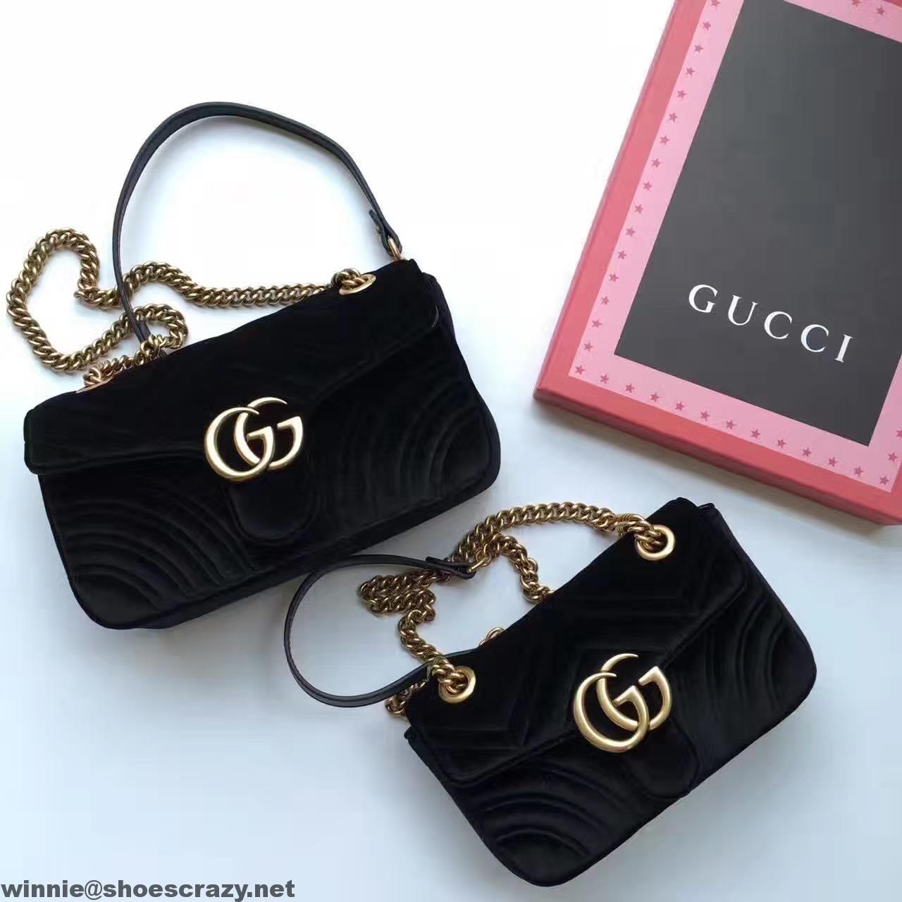 Gucci GG Marmont Velvet Small Shoulder Bag 443497 2016