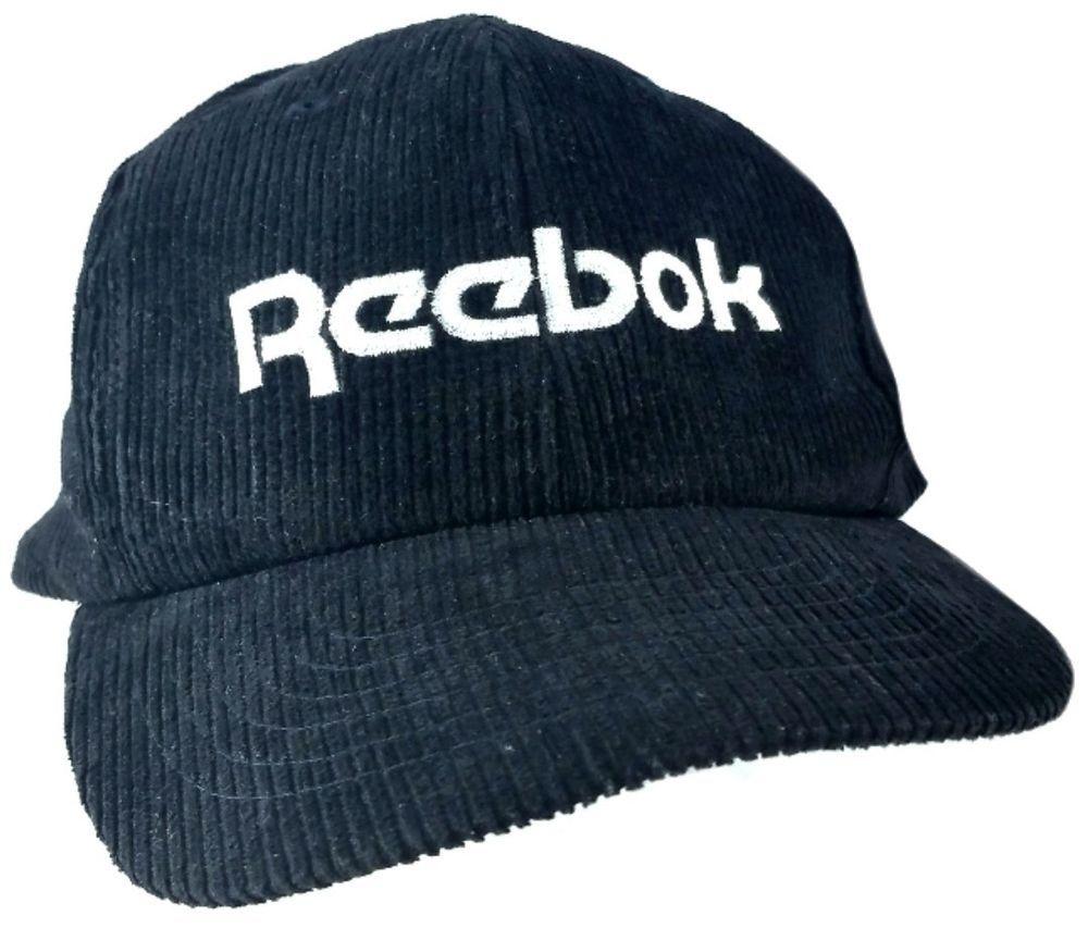 509b44c2 Vintage #Corduroy #REEBOK #HAT Adjustable #Black #LG #Ball #Balls ...