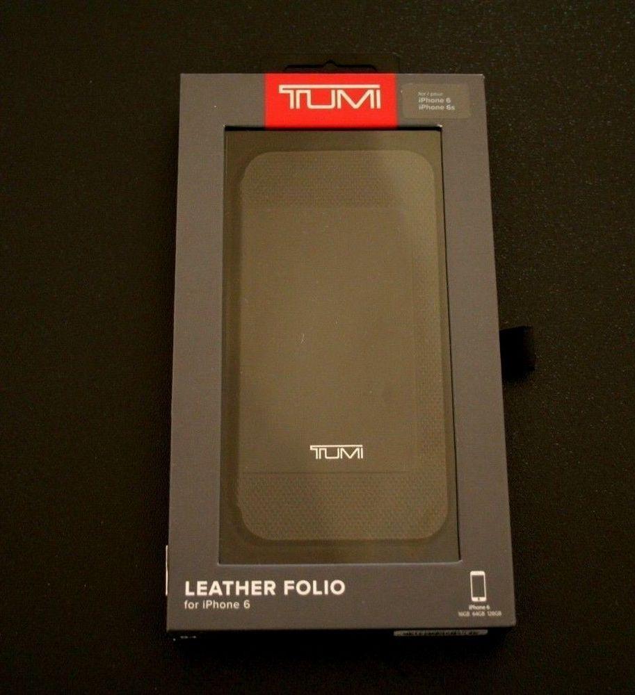 huge discount eb6f9 4616d NEW Tumi Leather Folding Folio Case Black for Apple #iPhone 6 6s ...