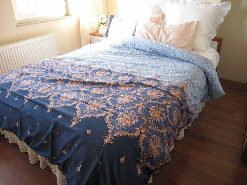 expedited fast shipping dorm room bedding pink blue navy damask print twin xl duvet cover. Black Bedroom Furniture Sets. Home Design Ideas