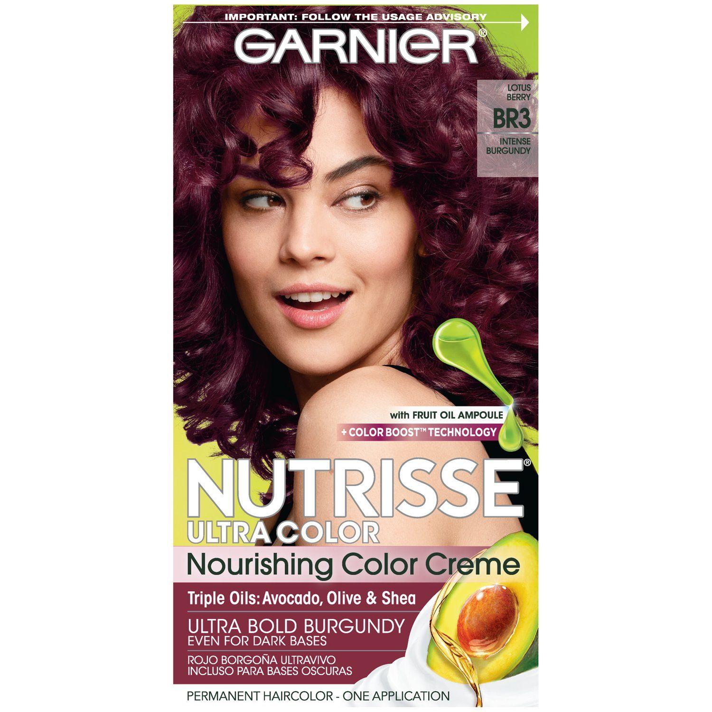 Garnier Nutrisse Ultra Color Nourishing Hair Color Creme, BR3 Intense Burgundy, 1 kit   Walmart.com Gallery
