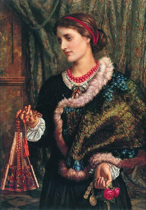 "Dejarlo caer: "" Te pertenezco ""--------------William Holman Hunt, The Birthday, 1868"