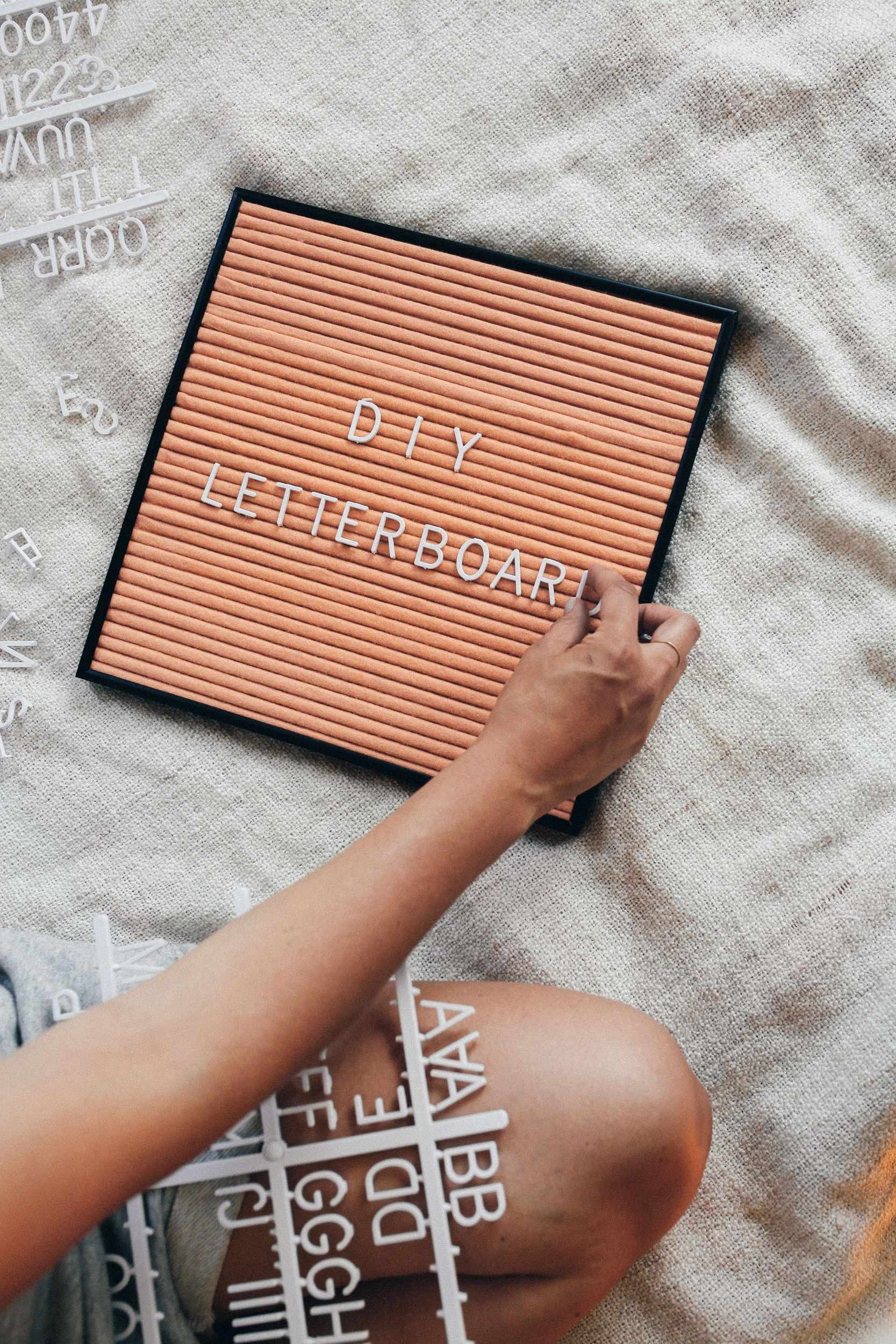 diy letter board how to make your own letter board in 4 easy