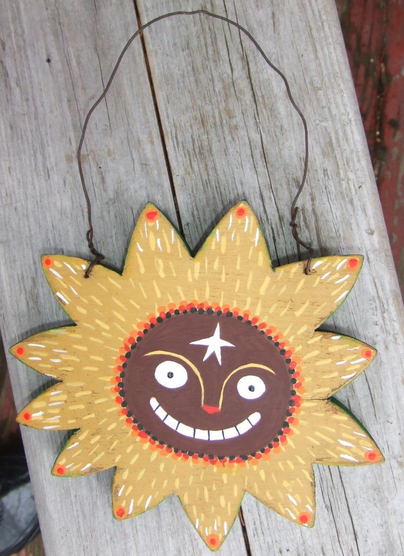 Sun Art Hanging - Whimsical Quirky Colorful - Celestial Star Wall ...