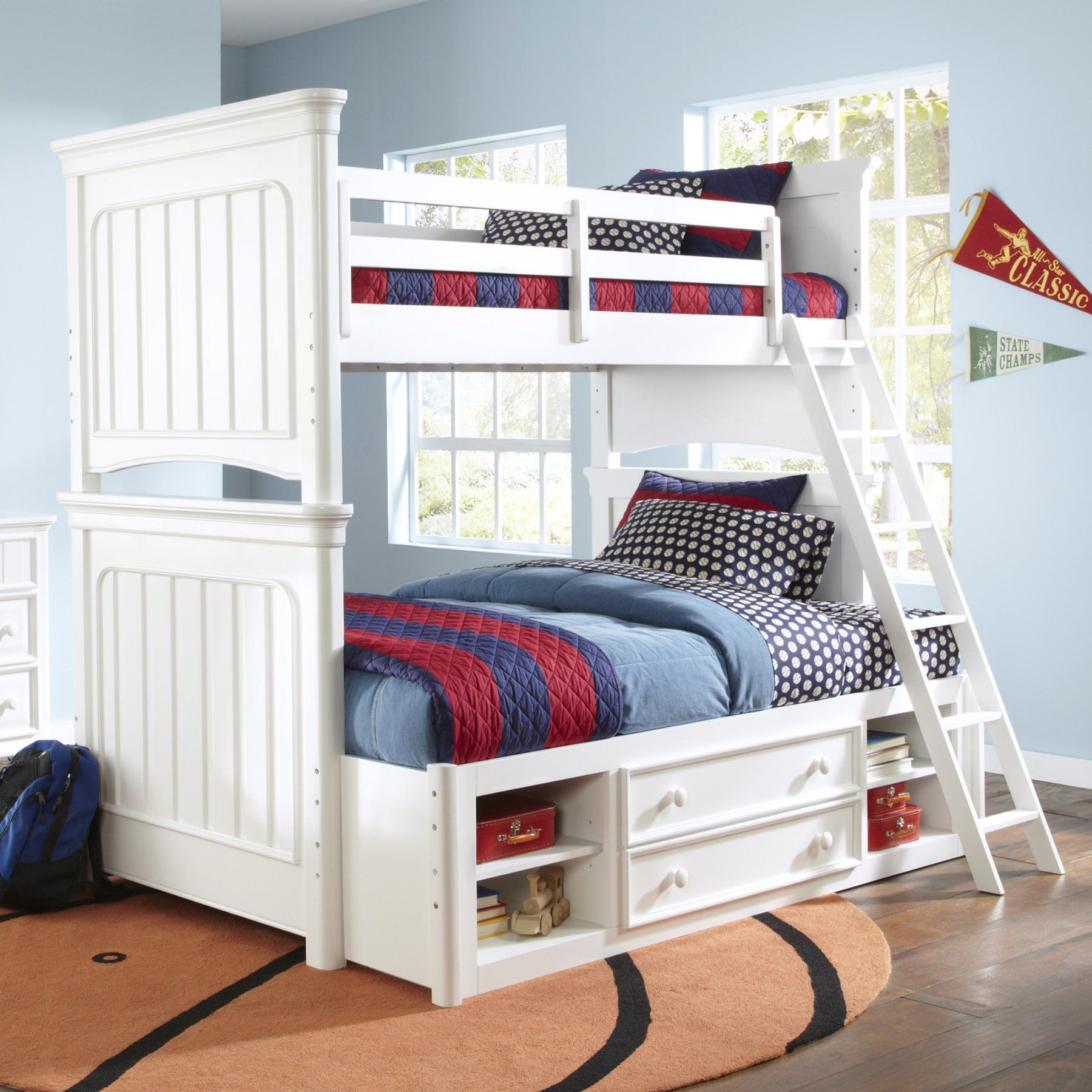 Discover more about twin over full bunk bed with stairs and trundle