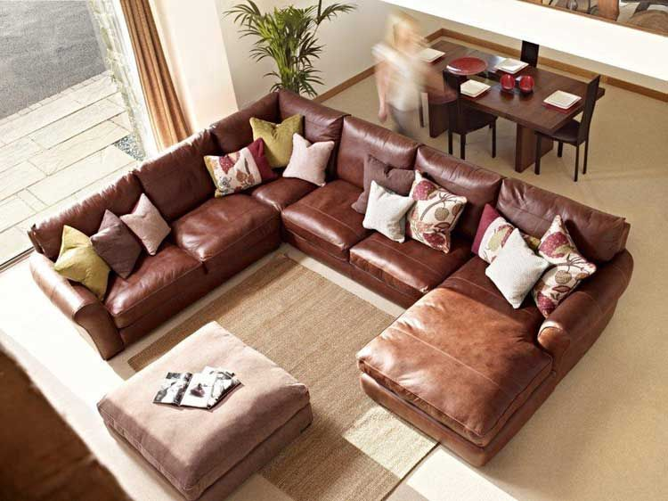 Leather Corner Sofa And Leather Chaise Leather Corner Sofa Brown Sofa Living Room Living Room Sofa