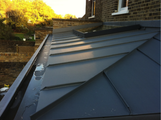 Folded Hip Detail On Zinc Roof With Box Gutter Gospel Oak