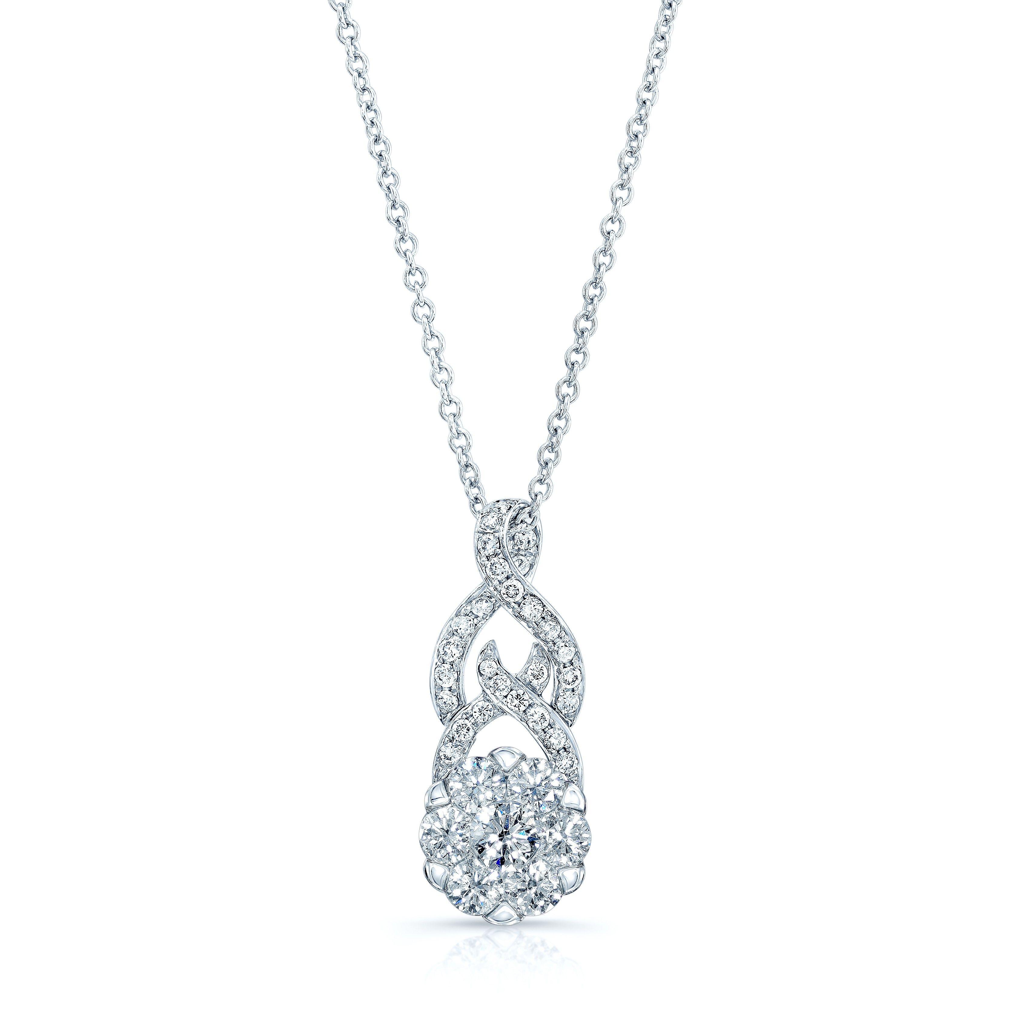 Anona pendant coronet diamonds carat pendant k white gold