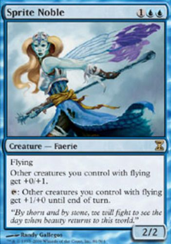 4 Sprite Noble ~ Blue Eternal Masters Mtg Magic Uncommon 4x x4