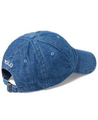 de4681fd7b1 Polo Ralph Lauren Men s Denim Sports Cap - Denim
