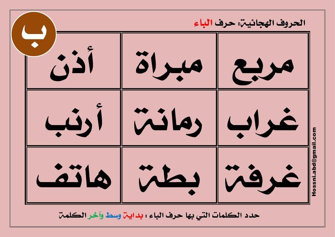 الاعداد للقراءة بطاقة حرف الباء Paper Calligraphy