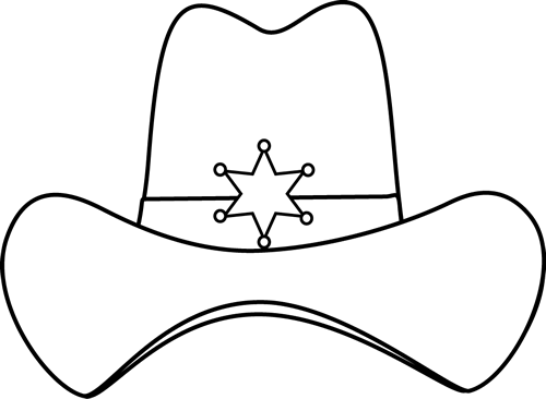 Black And White Sheriff Cowboy Hat