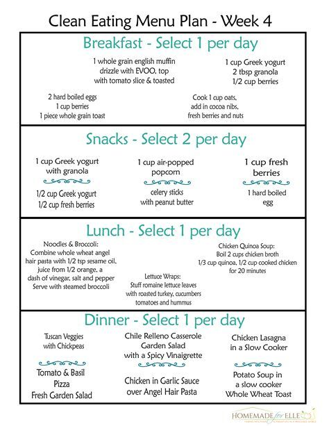 Clean Eating Meal Plan {100 Free - Includes Breakfast, Lunch
