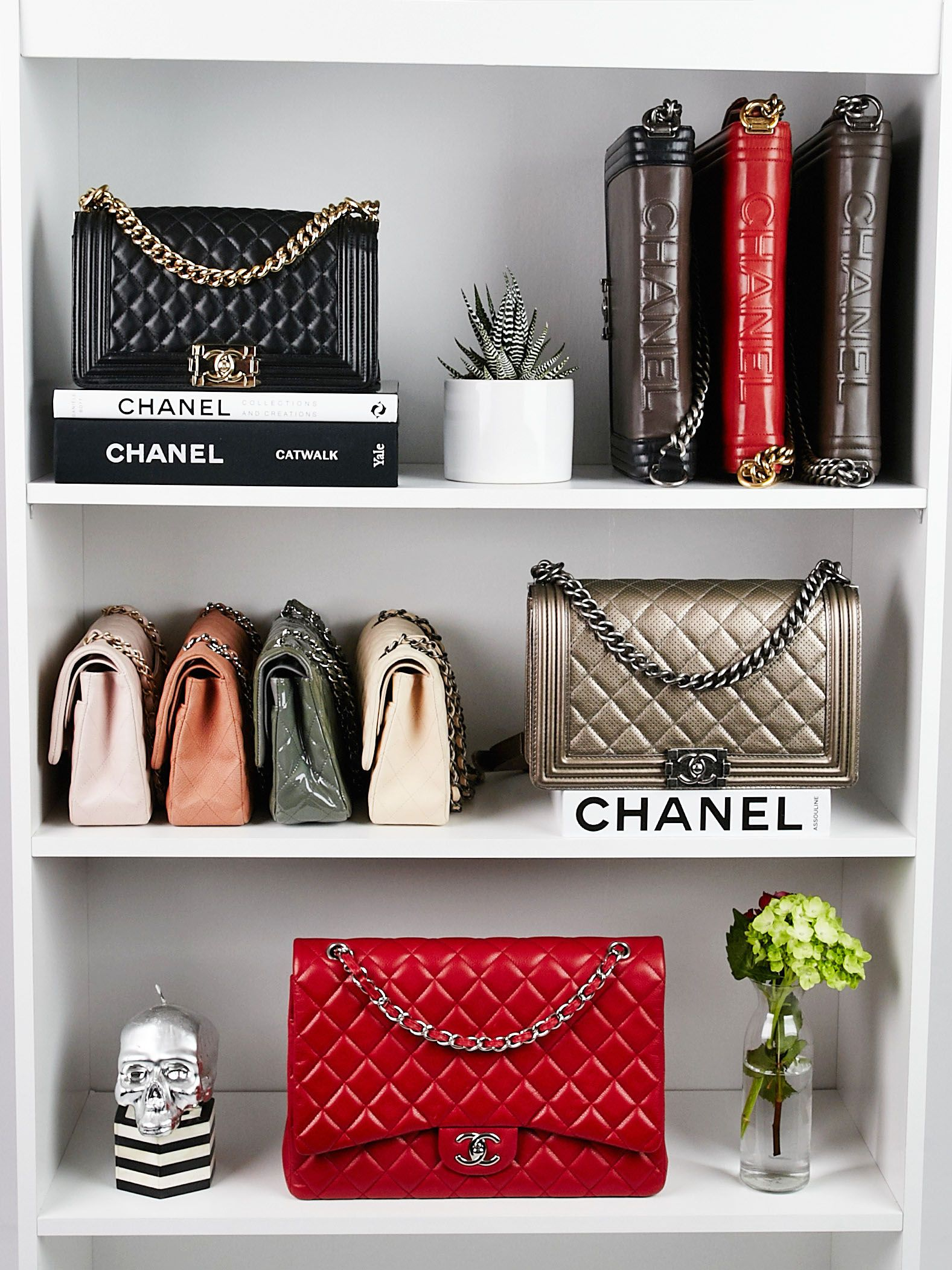 527792cfd34d Chanel shelfie! #Chanel #Chanelbag #chanelflapbag #Chanelboybag #fashion  #bags #closets #shelfie #style #luxury