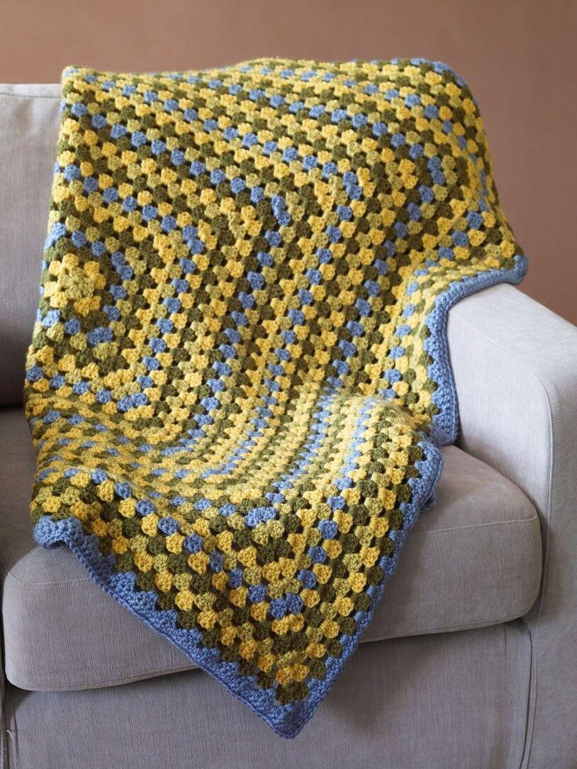 Afghan Squared Pattern (Crochet)