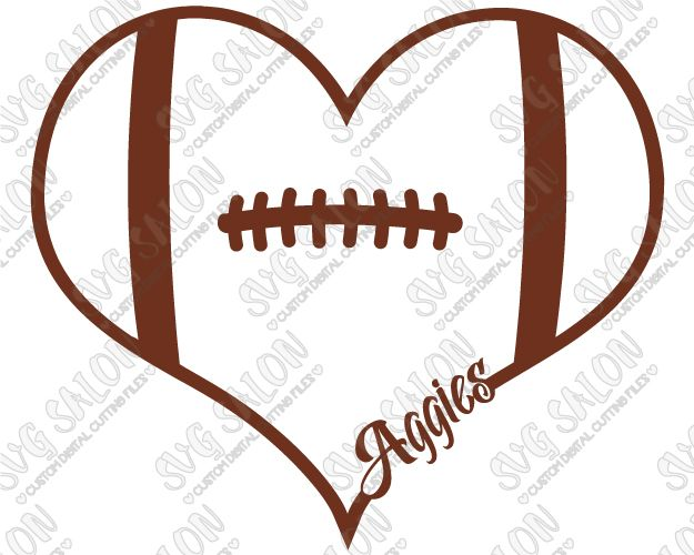 Texas AM Aggies Fan Football Laces Heart Custom DIY Vinyl Shirt - Custom vinyl decals cutter for shirts