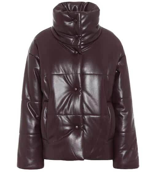 Hide faux leather puffer jacket в 2020 г (с изображениями)