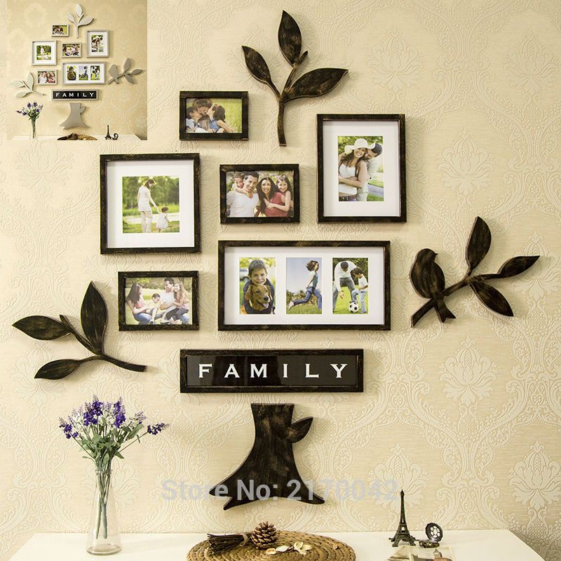 Vintage Picture Frames Tree Family Photo | Home Decor | Pinterest ...