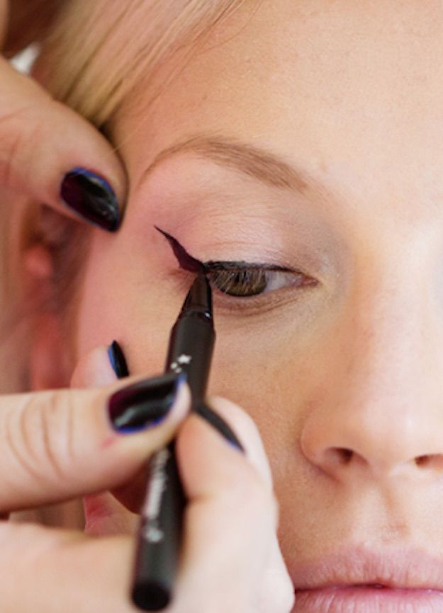 Cat Eye Makeup With Pencil Eyeliner Cat Eye Makeup