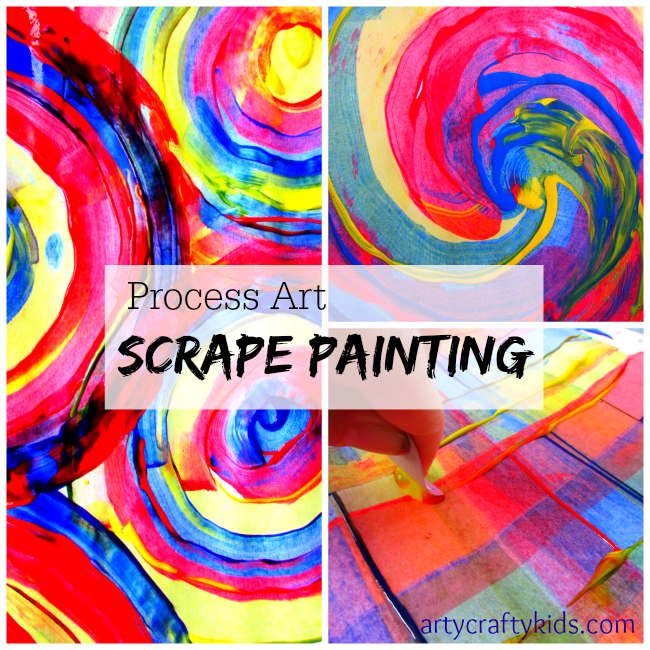 scrape painting - Colour Painting For Kids