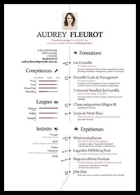 Portfolio Myprettycv Idee Cv Fleurot Audrey Fleurot