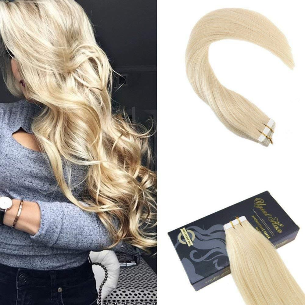 20pcs Balayage Tape In Remy Human Hair Extensions Brown To White