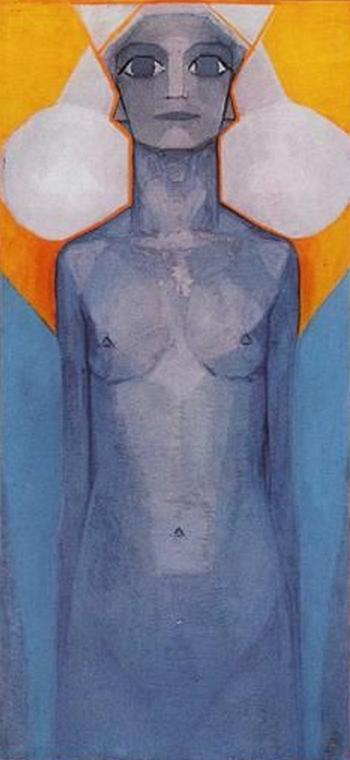 2/3 - Piet Mondrian, 1910-1, Evolution Evolutie, Oil on canvas, Netherlands.