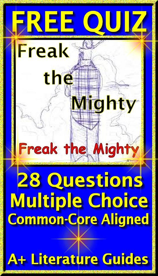 Free Quiz 28 Questions Multiple Choice From Chapters 1 6 Of Freak The Mighty Common Core Aligned Freak The Mighty Book Study Guided Reading Stations