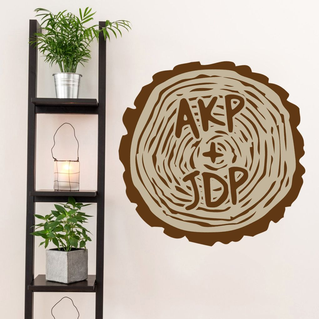 Custom Carved Tree Trunk Printed Wall Decals Wall Stickers Tree