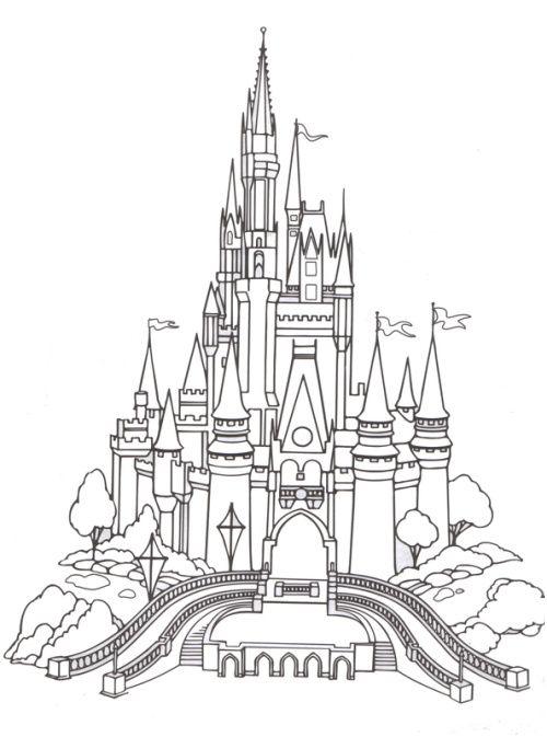11 Rustique Coloriage Chateau Disney Images in 2020 ...