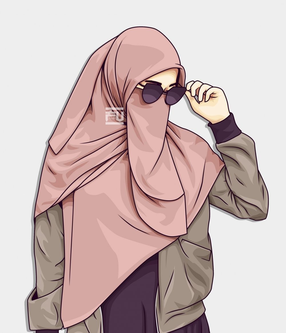 Vector Hijab Niqab By Ahmadfu22 Kartun Hijab Gambar Gambar Kartun