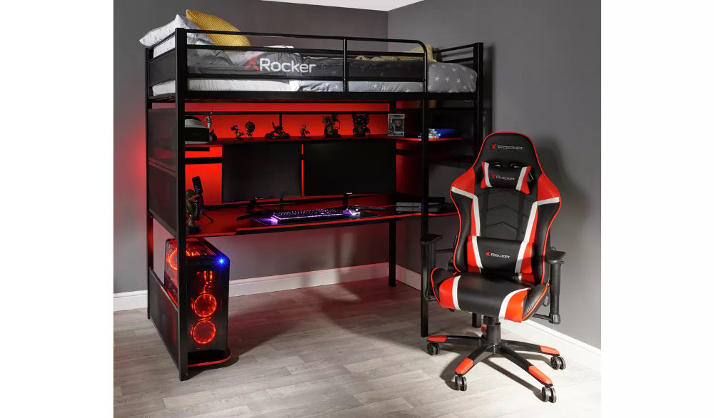 Buy X Rocker Battle Bunk Gaming Bed with XL Gaming Desk