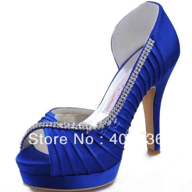 8 Wedding Shoe Ideas For Every Bride You Ll Love Prom Shoesplatformsblue Shoesroyal Blue Dress High Heelsroyal