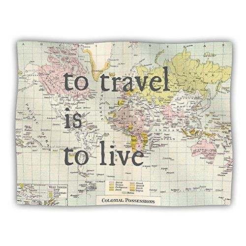 Kess InHouse Catherine Holcombe To Travel Is To Live Pet Blanket 30 by 40Inch Color Map -- To view further for this item, visit the image link.