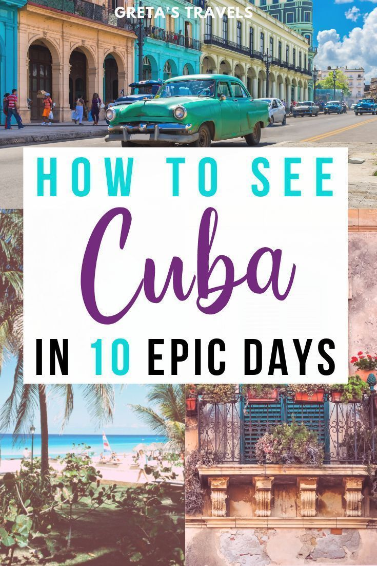 10 Days In Cuba: The Best Cuba 10-Day Itinerary. #visitcuba