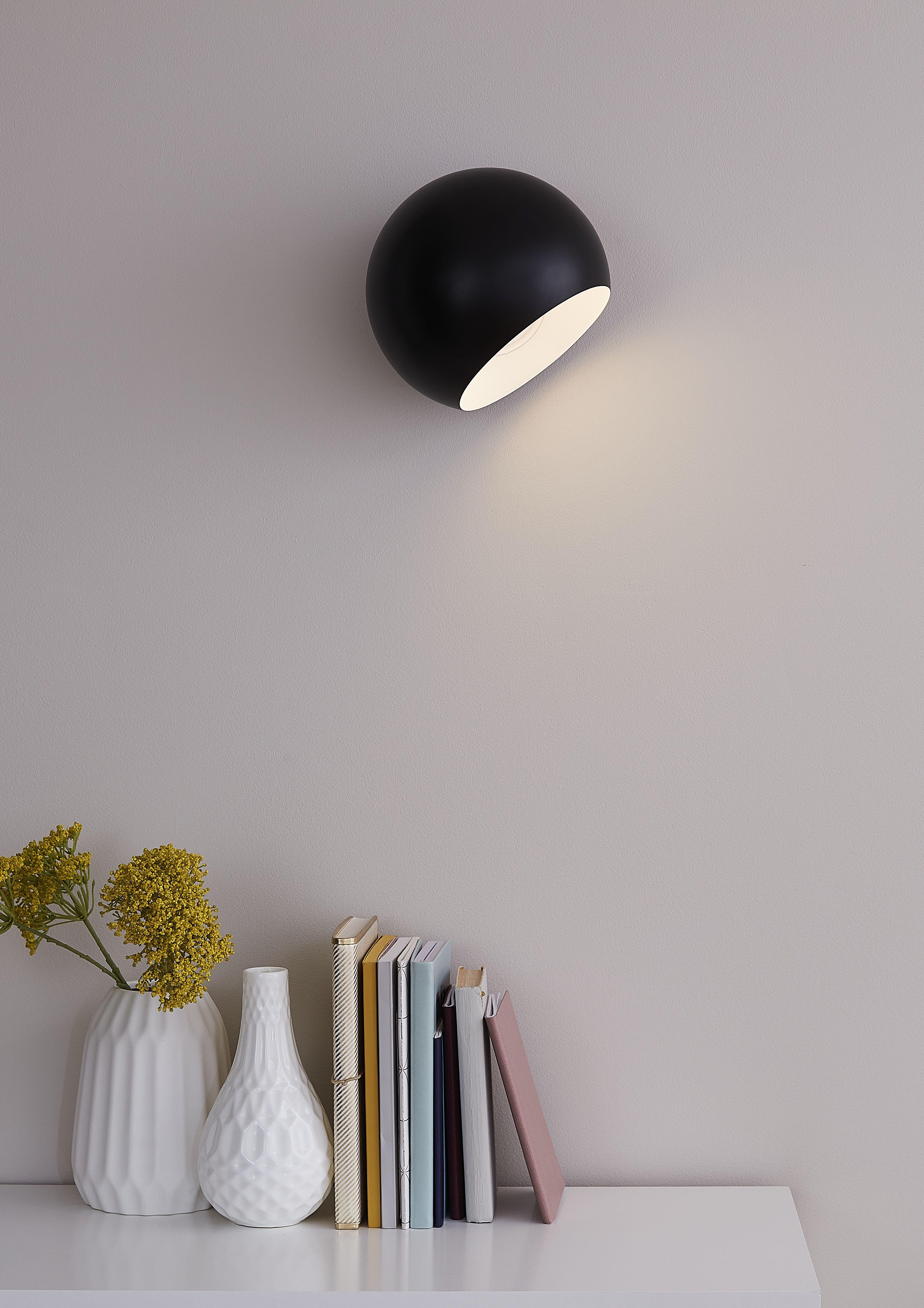 Kinkiet Goodhome Zosca 1 Punktowy E27 Czarny Kinkiety Wall Lights Decor Home Decor