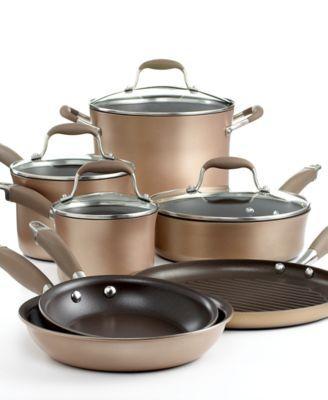 Anolon Advanced Bronze Cookware Set 11 Piece Hard Anodized