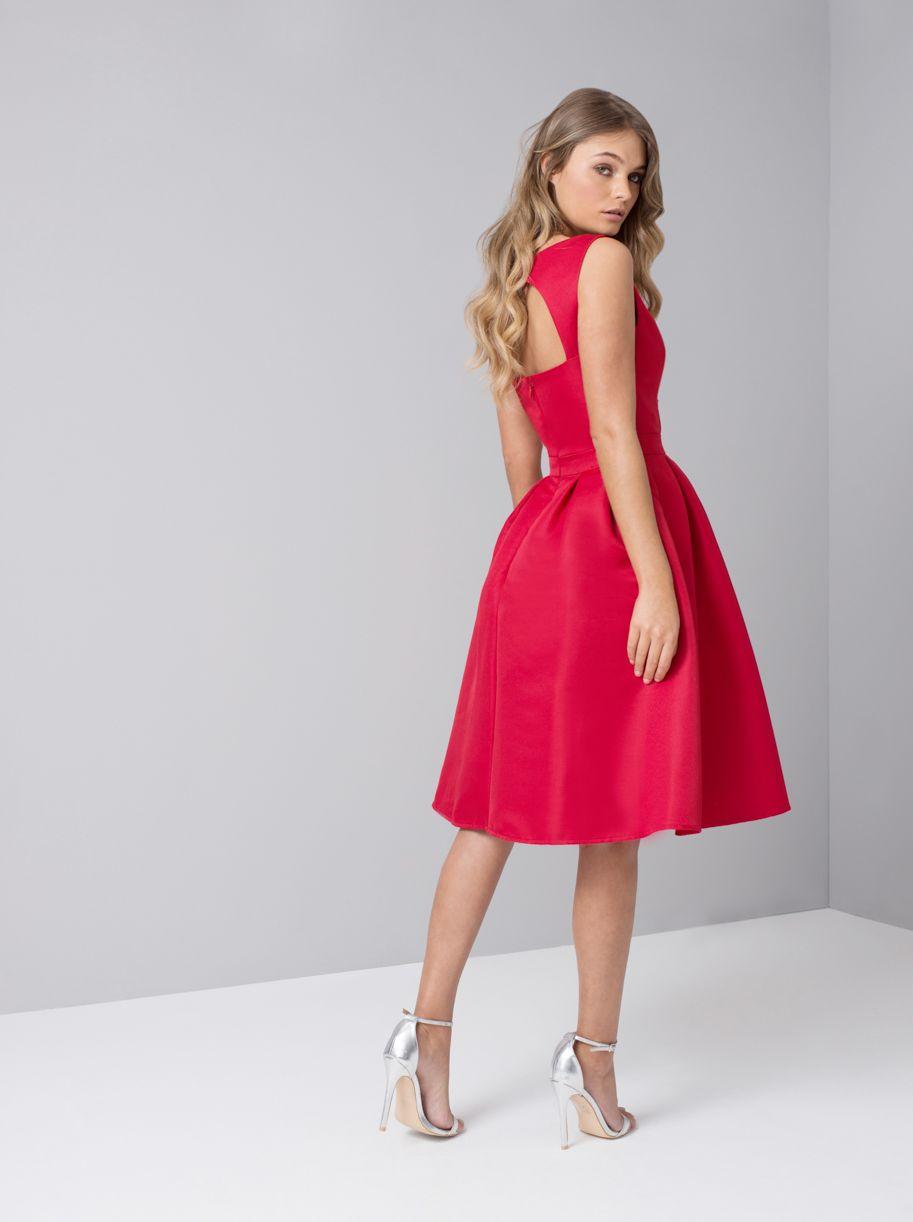 1f962be96d Chi Chi POSY Premium sukienka wieczorowa midi czerwona
