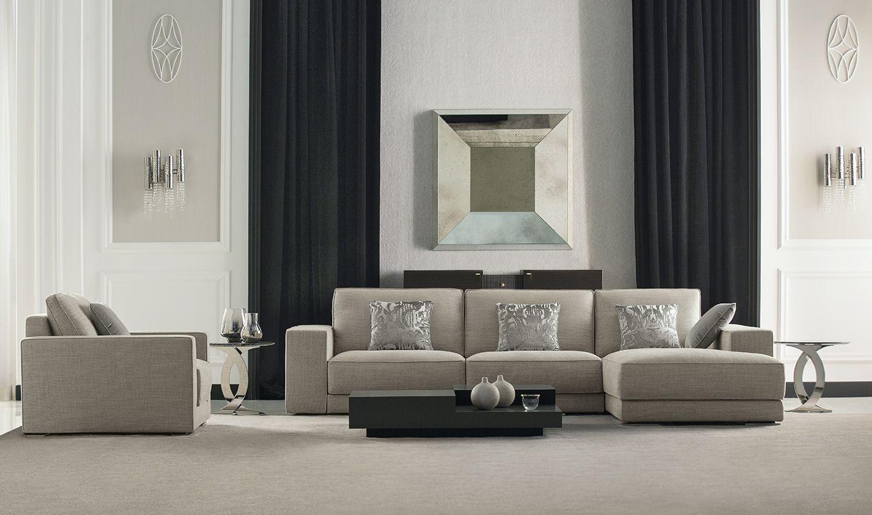 living room modular furniture. Luxury Modern Living Room Furniture: WALTER Modular Sofa And Armchair - LUKAS Central Table Furniture