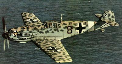 Messerschmitt Bf 109 leopard camo of Luftwaffe ace Werner Schroer
