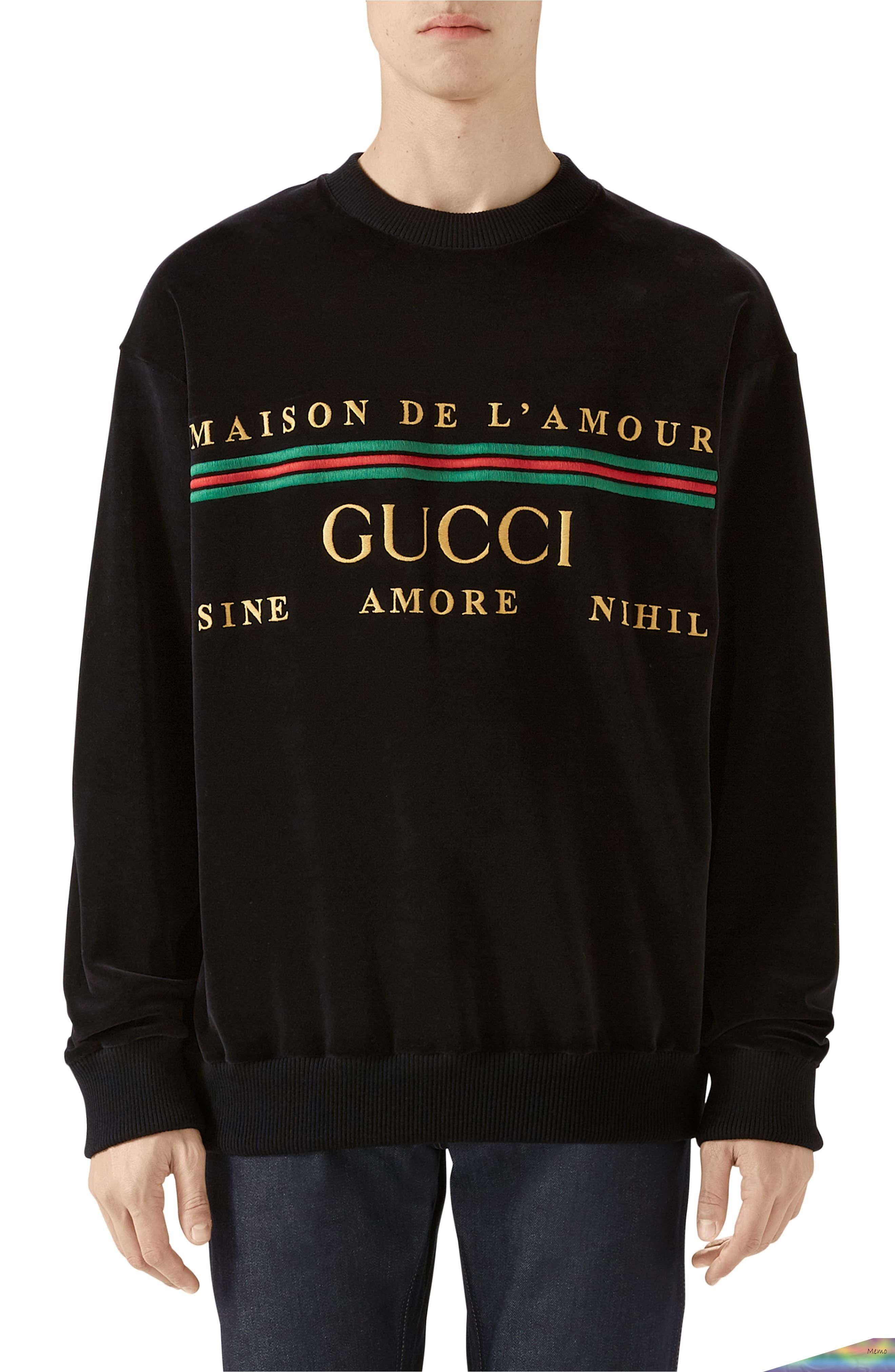 Aug 3 2019 Men S Gucci Embroidered Chenille Crewneck Sweatshirt Size Large Black Black Outfit Men Mens Outfits Mens Fashion Casual [ 4048 x 2640 Pixel ]