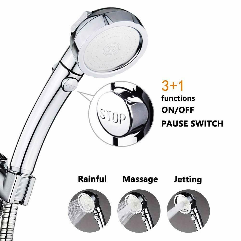 High Pressure Handheld Showerhead ON//OFF Switch Shower Head 3 Mode