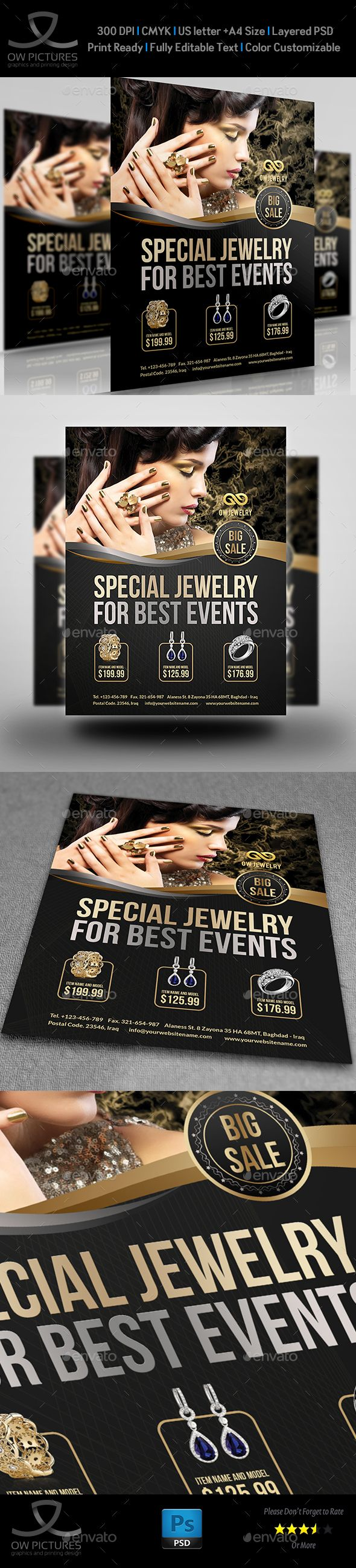 Jewelry Flyer Templates Vol2 Flyer Template And Template