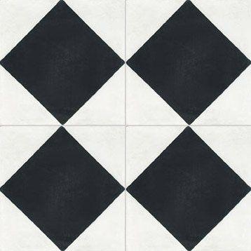 carreau de ciment int rieur losange premium blanc et noir 20 x 20 cm entr e pinterest. Black Bedroom Furniture Sets. Home Design Ideas
