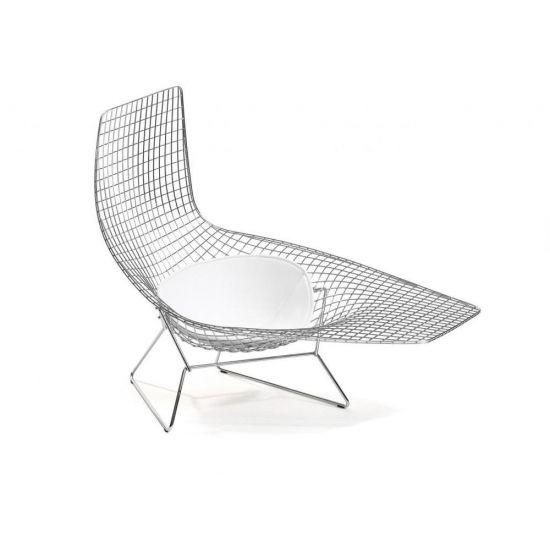 Knoll Bertoia Asymmetric Chaise Bertoia Modern Outdoor Chaise Lounges Modern Outdoor Chaise