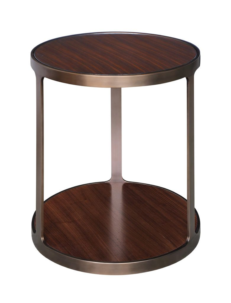 8503 Contemporary Transitional Style Round Side Table Inset