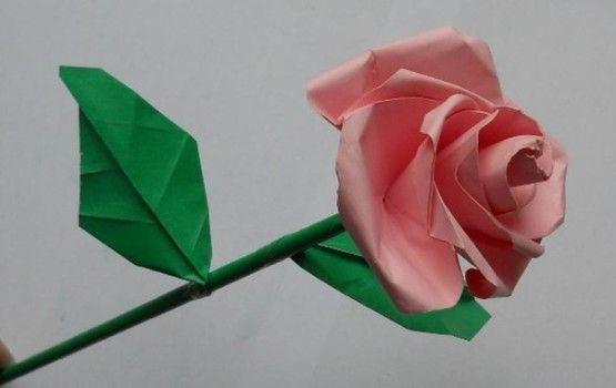 Rose Aus Papier Falten Blumen Basteln Anleitung Dekoking Com